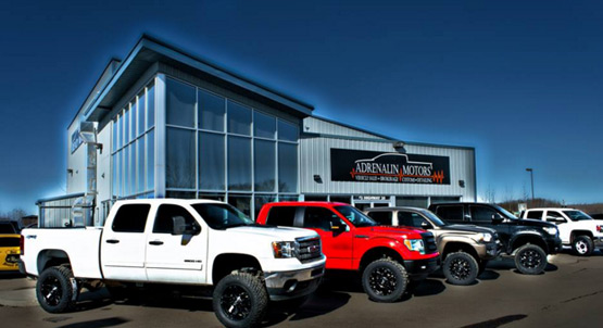 Adrenalin Motors dealership building