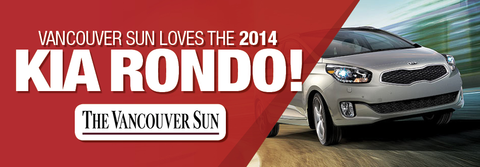 Vancouver Sun review the Kia Rondo at Applewood Surrey