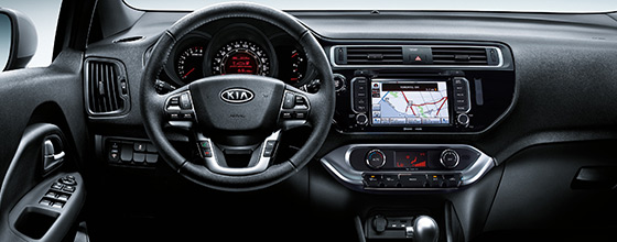 2017 Kia Rio interior at Applewood Surrey