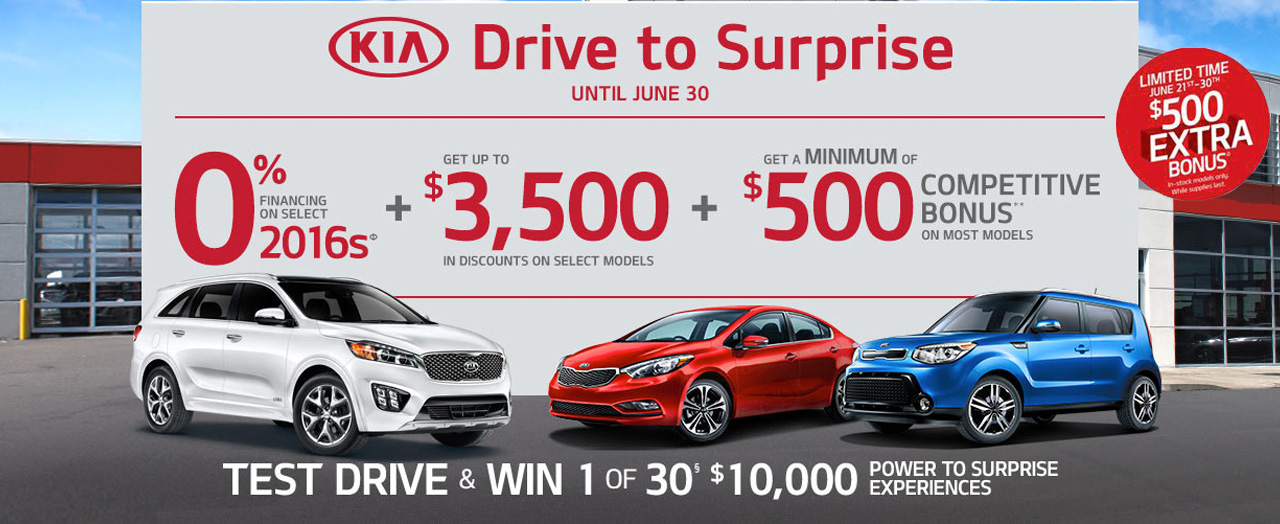 Test Drive & Win - Kia June Incentive - Applewood Surrey