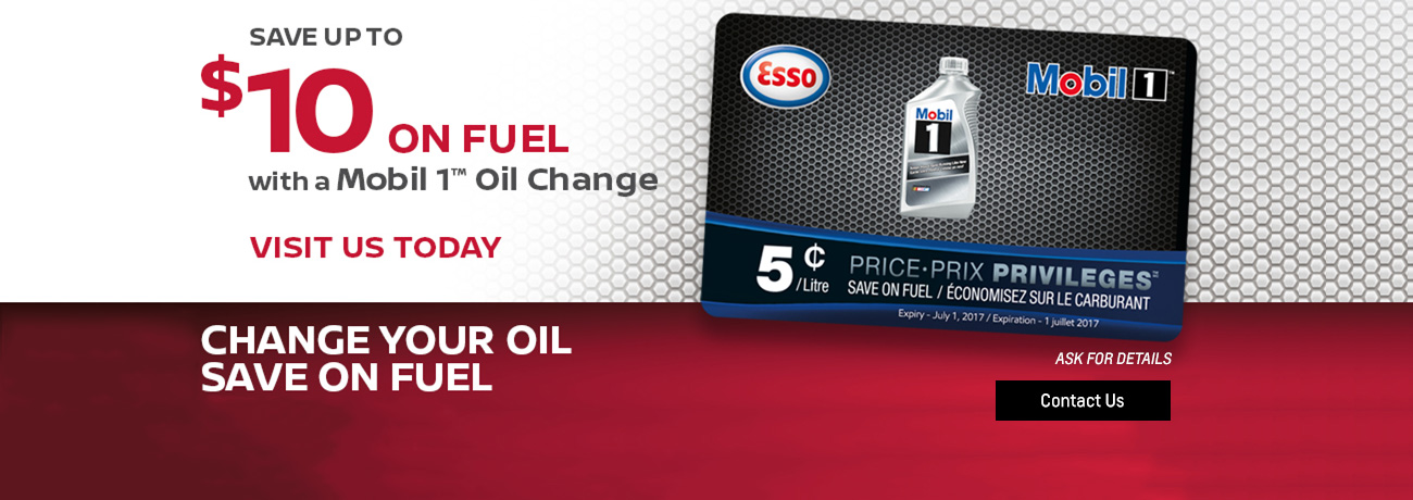 Get $10 Gas card with oil purchase