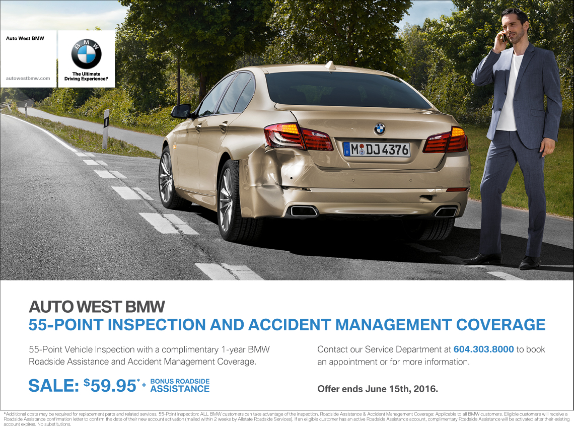 bmw 55 point inspection 1 year bmw roadside assistance accident. Cars Review. Best American Auto & Cars Review