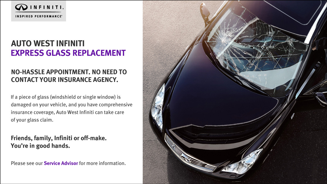 Express Glass Replacement at Auto West Infiniti