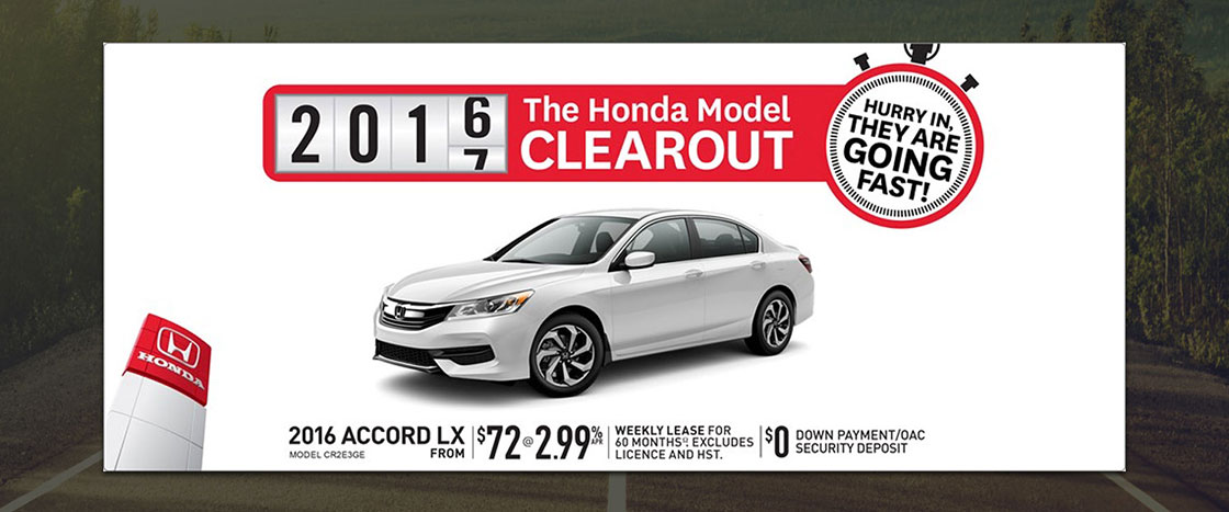 Honda August Special for the 2016 Honda Accord