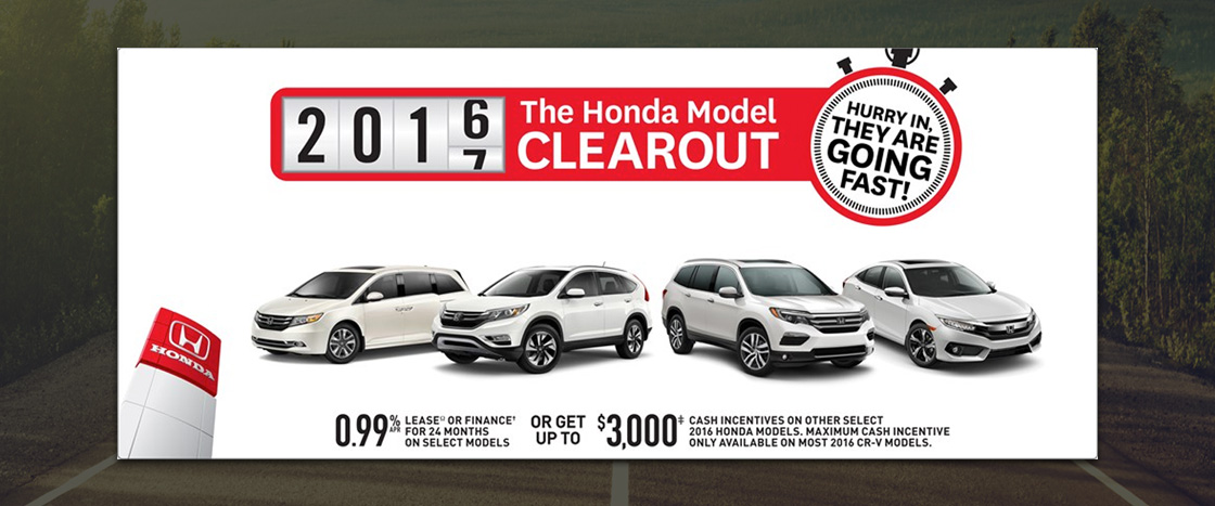 Honda July Special for the 2016 Honda Lineup