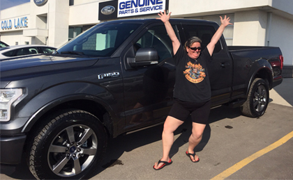 Tracy Swanson loves her 2015 Ford F150.
