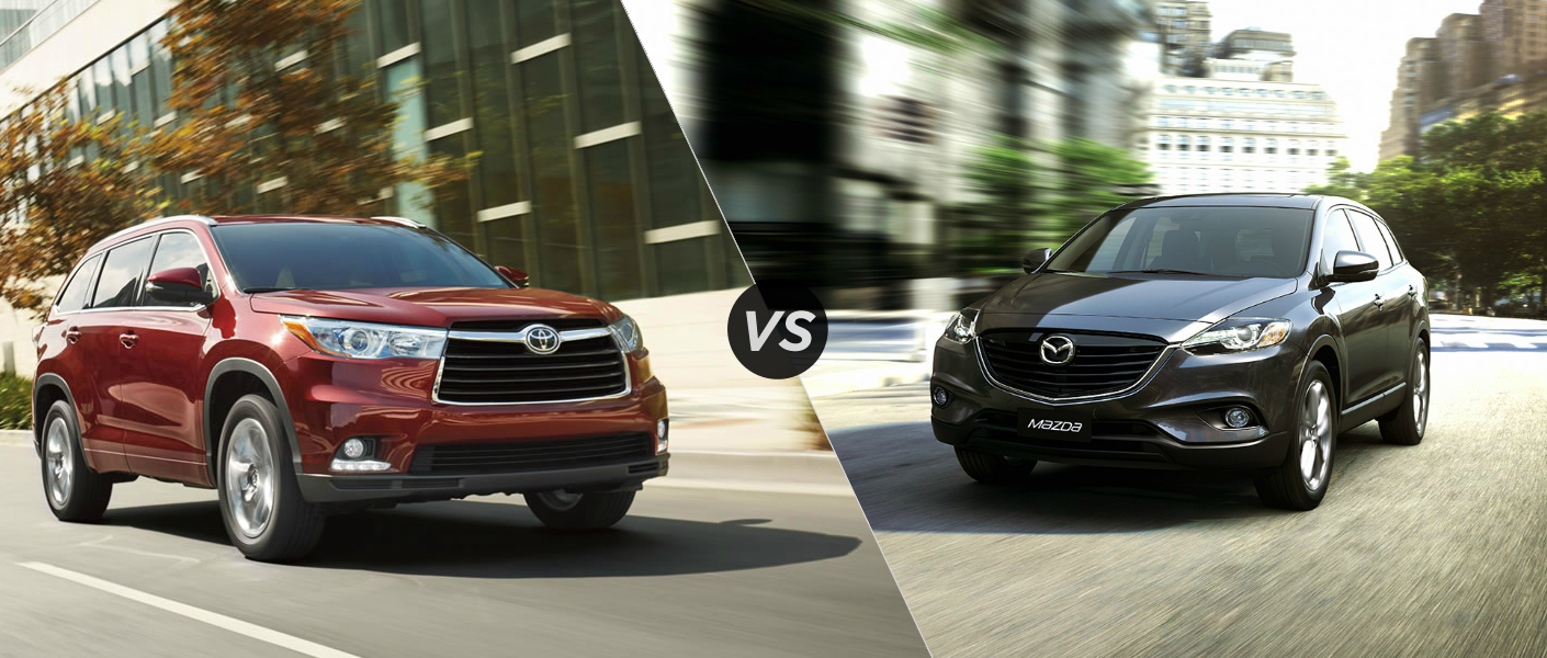 2015 Toyota Highlander vs 2015 Mazda CX-9