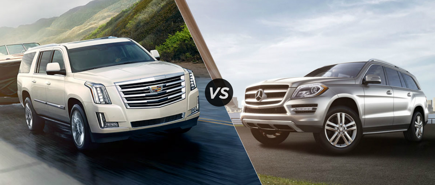2015 cadillac escalade vs 2015 mercedes benz gl class for Mercedes benz gl class diesel