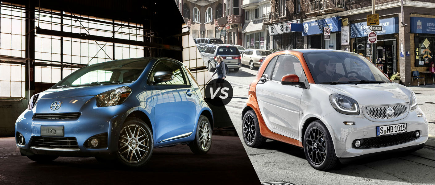 2015 Scion iQ vs 2015 smart fortwo