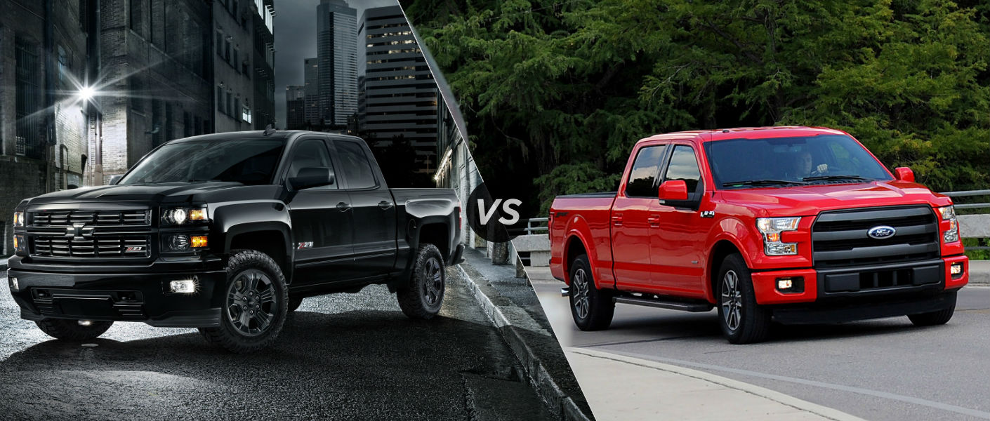 2015 Chevy Silverado 1500 vs 2015 Ford F150