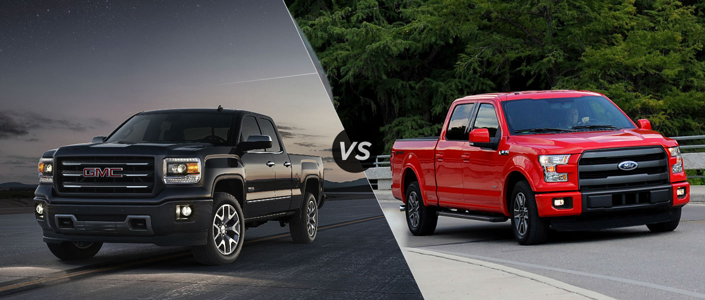 2015 GMC Sierra 1500 vs 2015 Ford F150
