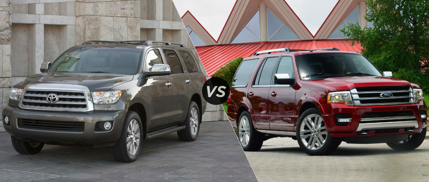 2015 Toyota Sequoia vs 2015 Ford Expedition