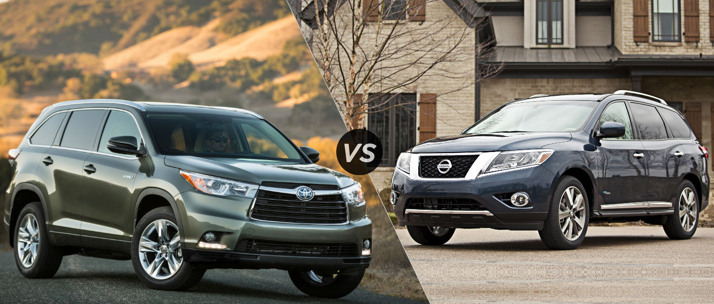2015 toyota highlander hybrid vs 2014 nissan pathfinder hybrid. Black Bedroom Furniture Sets. Home Design Ideas