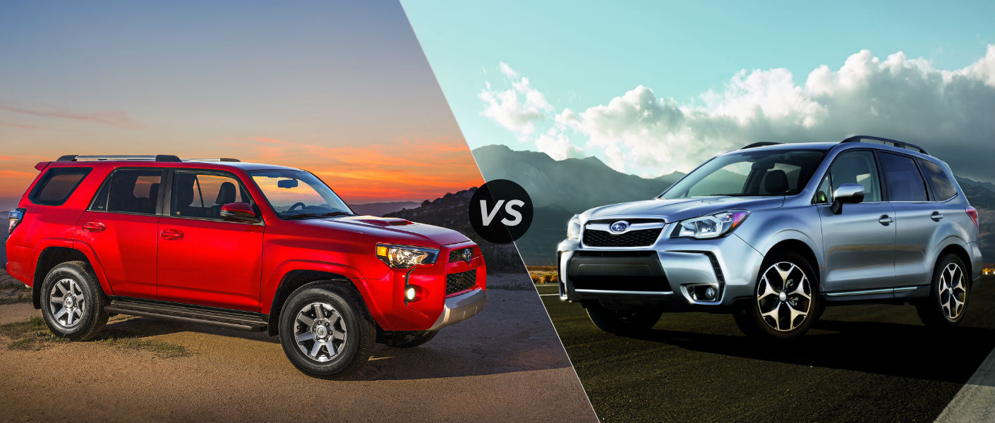 2015 Toyota 4Runner vs 2015 Subaru Forester