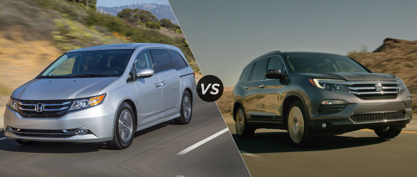 odyssey vs pilot 2016 2017 2018 best cars reviews