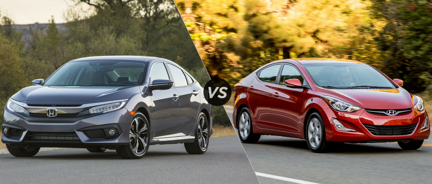 2016 Honda Civic vs 2016 Hyundai Elantra