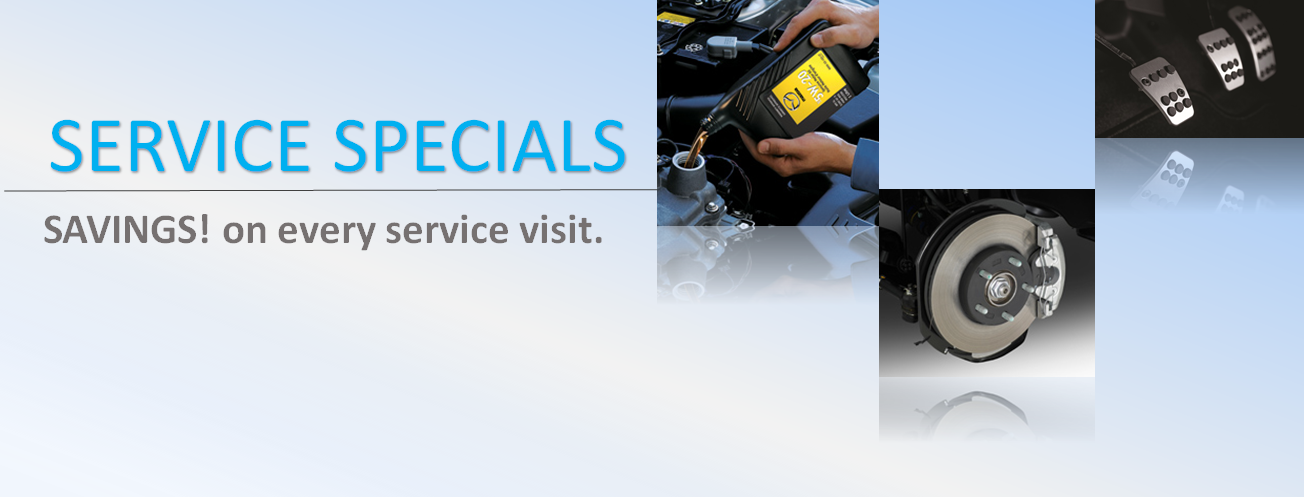 Mazda Service Special, Oil change, Brake service, Vehicle Maintenance