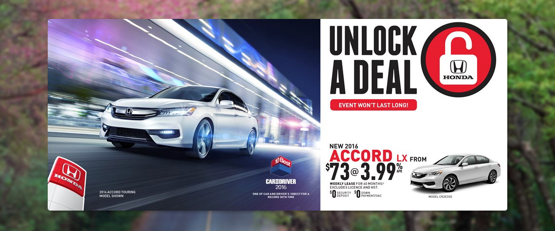 2016 April Honda OEM - Accord Deal