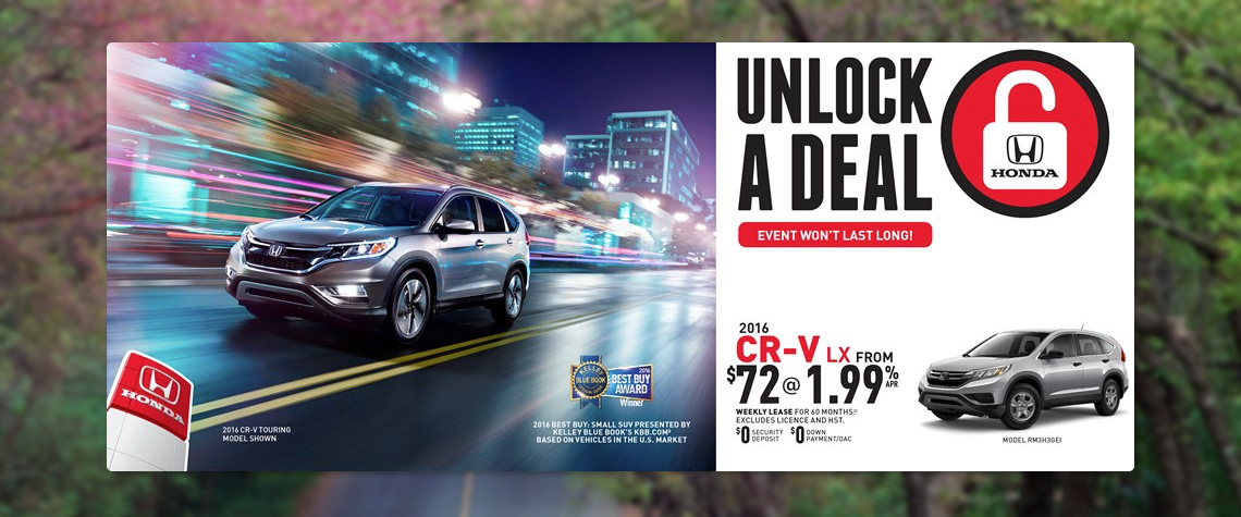 2016 April Honda OEM - CRV Deal