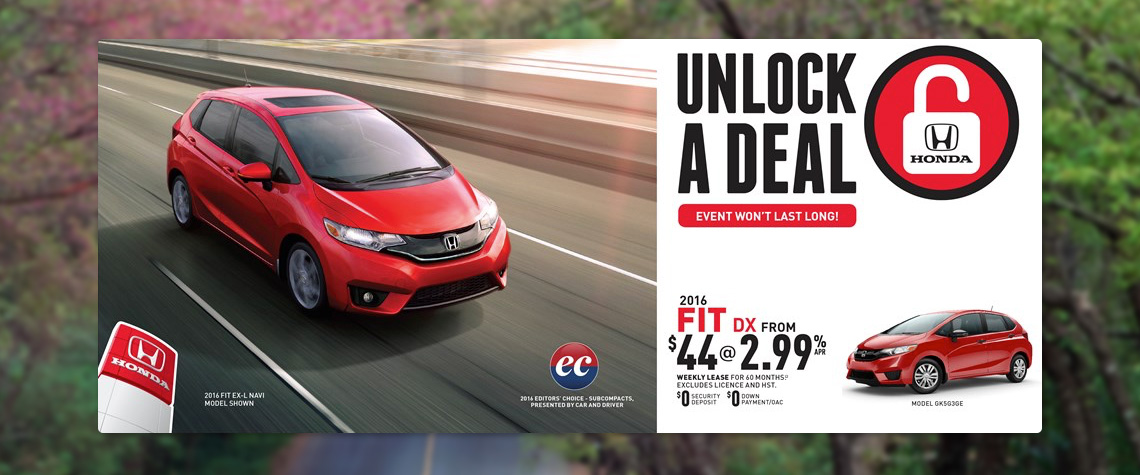 2016 April Honda OEM - Fit Deal