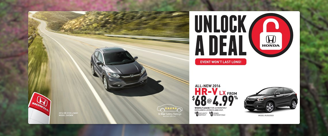 2016 April Honda OEM - HRV Deal