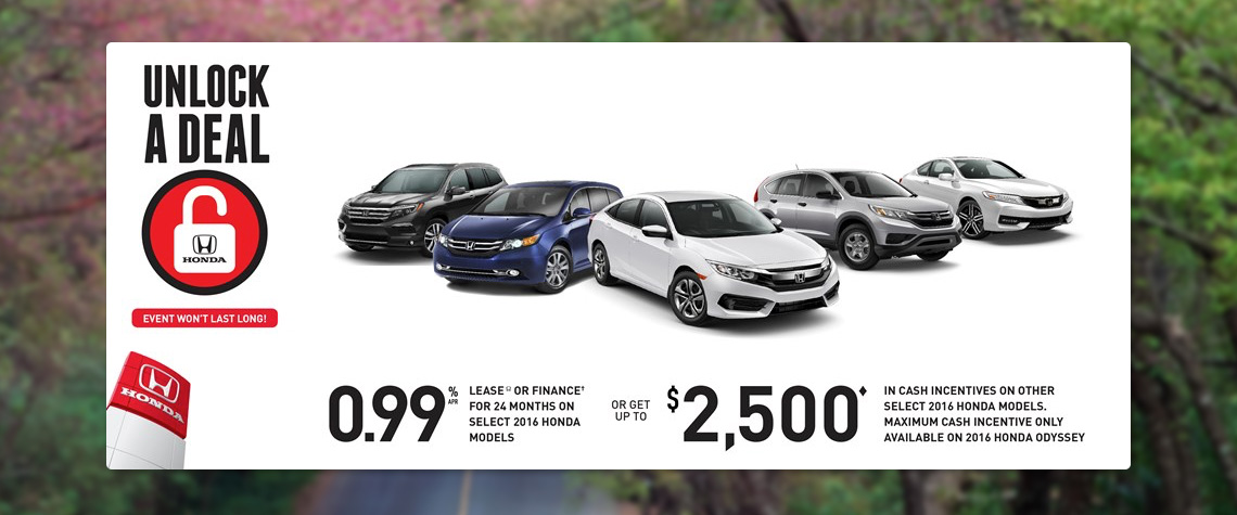 2016 April Honda OEM - Lineup Deal