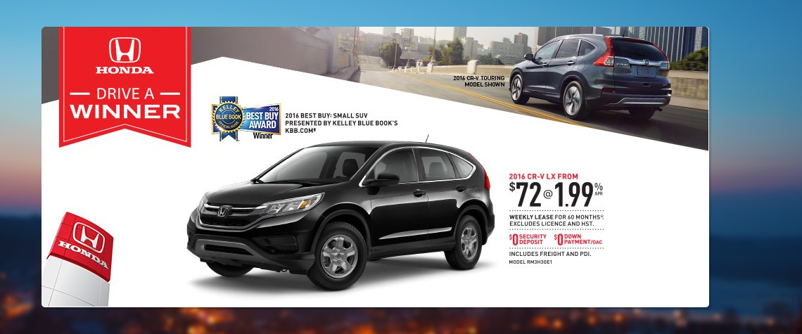 2016 February Honda OEM - CRV Deal