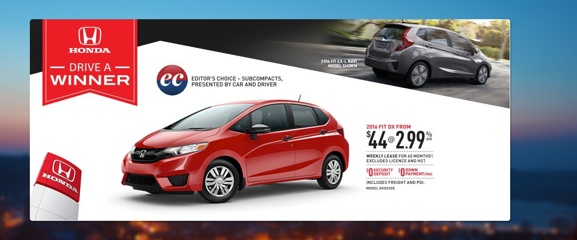 2016 February Honda OEM - Fit Deal
