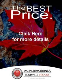 Simple, best price. Huntsville Honda.