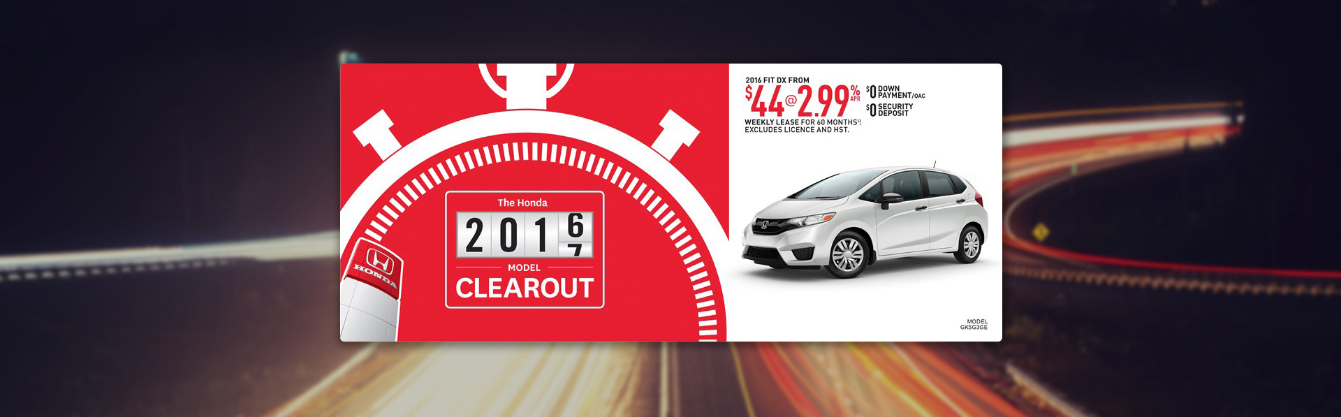 Honda Fit - September Incentive