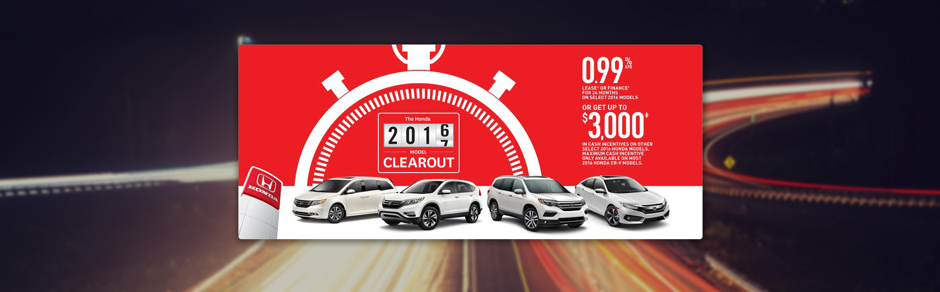 Honda Lineup - September Incentive