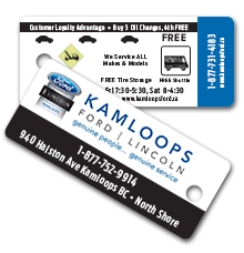 Kamloops Ford Lincoln Customer Loyalty Keychain