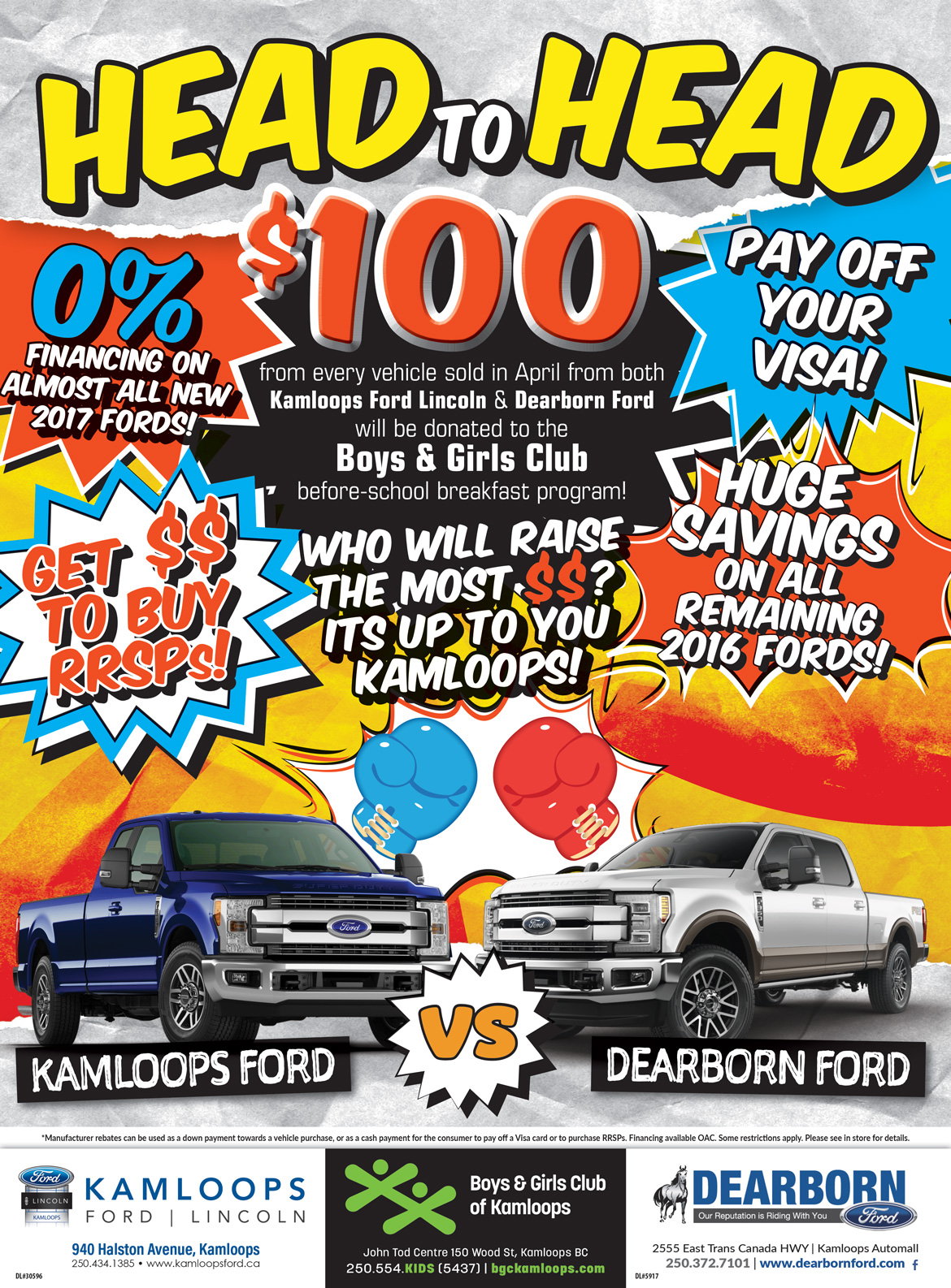 Head to Head Promotion
