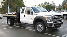 Ford F-550 with Flat Bed