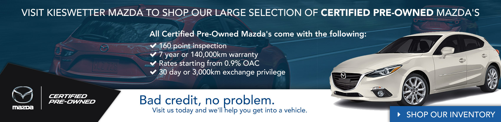 Kieswetter Mazda Certified Pre-Owned Vehicles