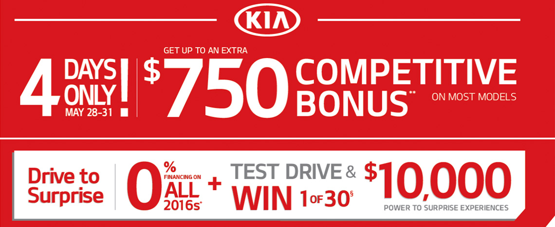 Lethbridge Kia | May Incentive | 4 Days Only!