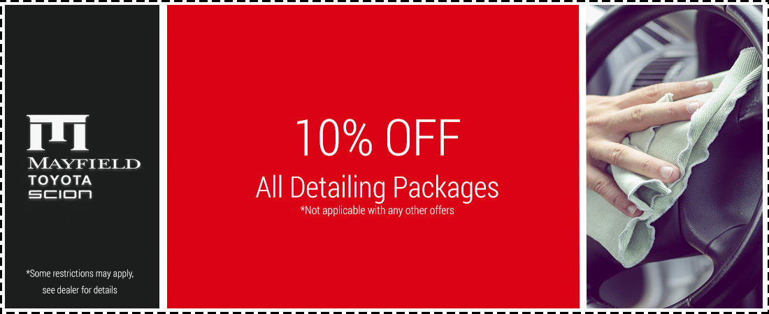 10% OFF All Detailing Packages