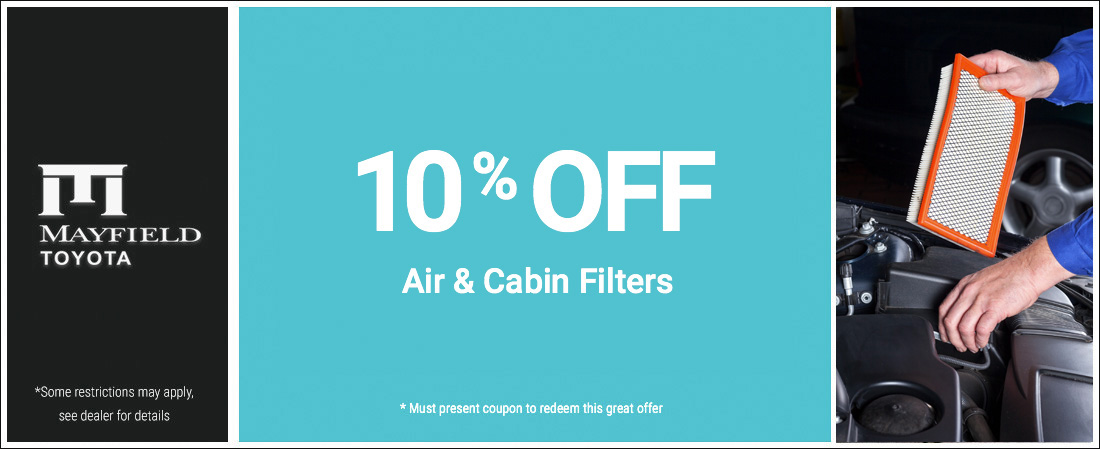 10% Off Cabin Air Filters Special