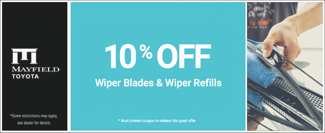 10% Off Windshield Blades and Refills Special