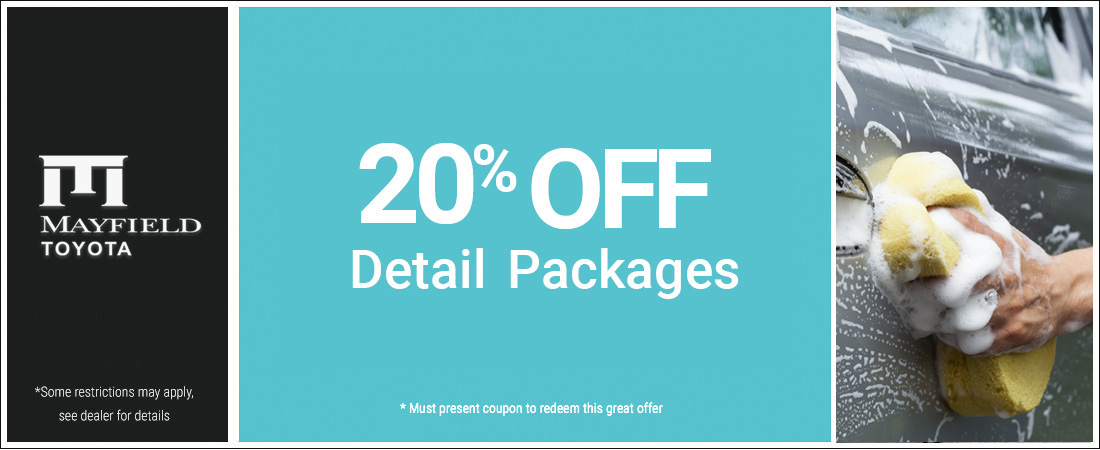 20% Off Detail Packages Special