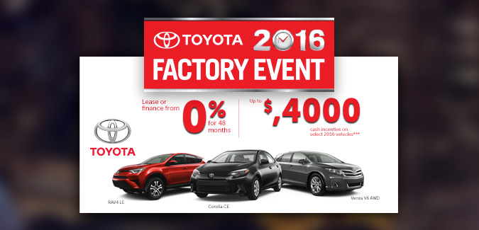 Mcphillips Toyota | April Incentives
