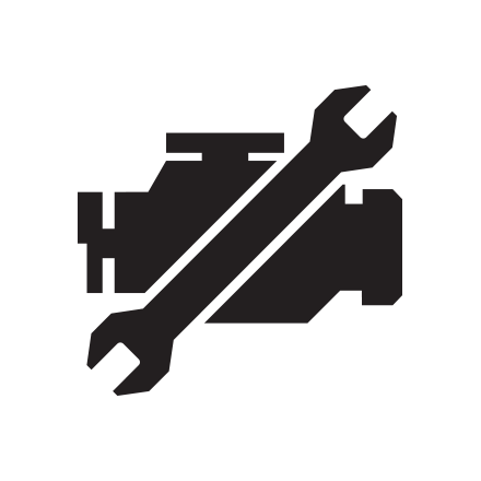 Electronic engine diagnostics icon