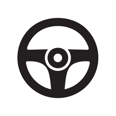Steering and suspension icon