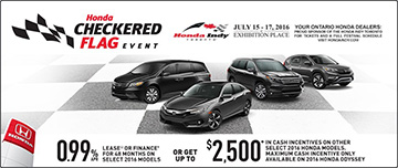May Honda Line-up Promotion