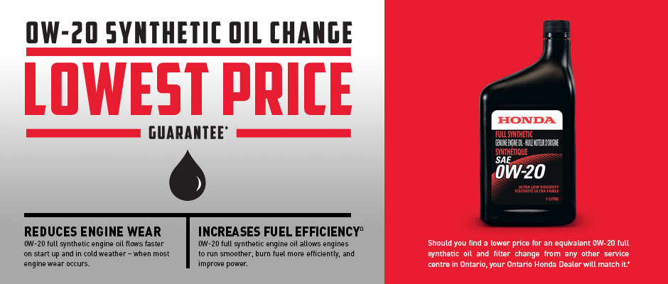 Find service specials in toronto on for Oil change coupons honda dealer
