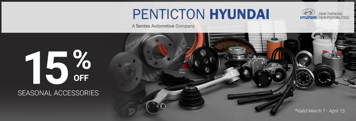 Seasonal Accessories Special at Penticton Hyundai