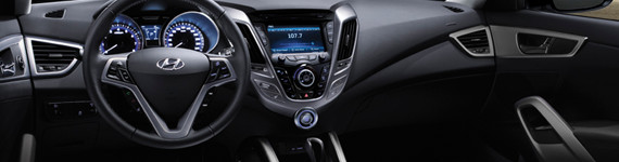 2016 Hyundai Veloster Interior Styling and Technology, Penticton, BC