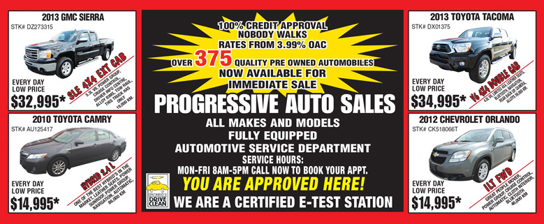 Progressive Auto Weekly Sale | Sarnia ON