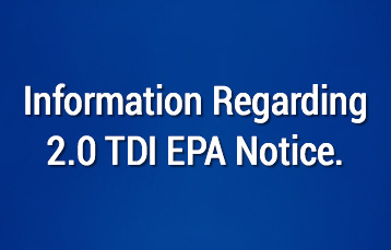 Emissions Test Information - TDI EPA Notice