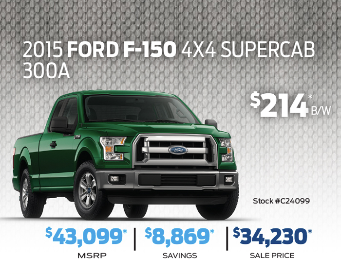 Ford F-150 4X4 SuperCab 300A at River City Ford